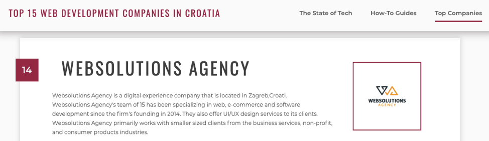 top web development companies in Croatia